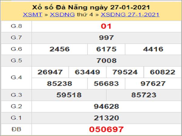 Soi cầu XSDNG 30/1/2021
