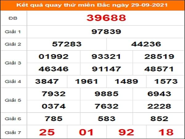 Quay thử kết quả soi cầu XSMB 29-09-2021 may mắn nhất